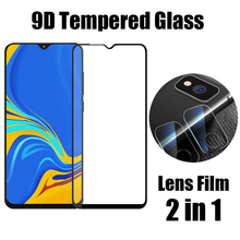 2 In 1 For Samsung Galaxy A10 Camera Lens Film 9D Screen Protector Protective Tempered Glass Front