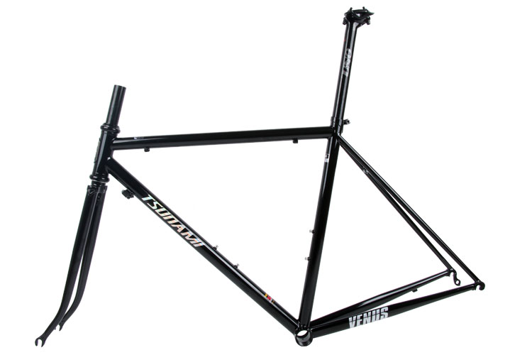 Sale TSUNAMI 520 chrome-molybdenum steel Bicycle Frame Road Bike Frame + full carbon front Fork or steel Fork 1