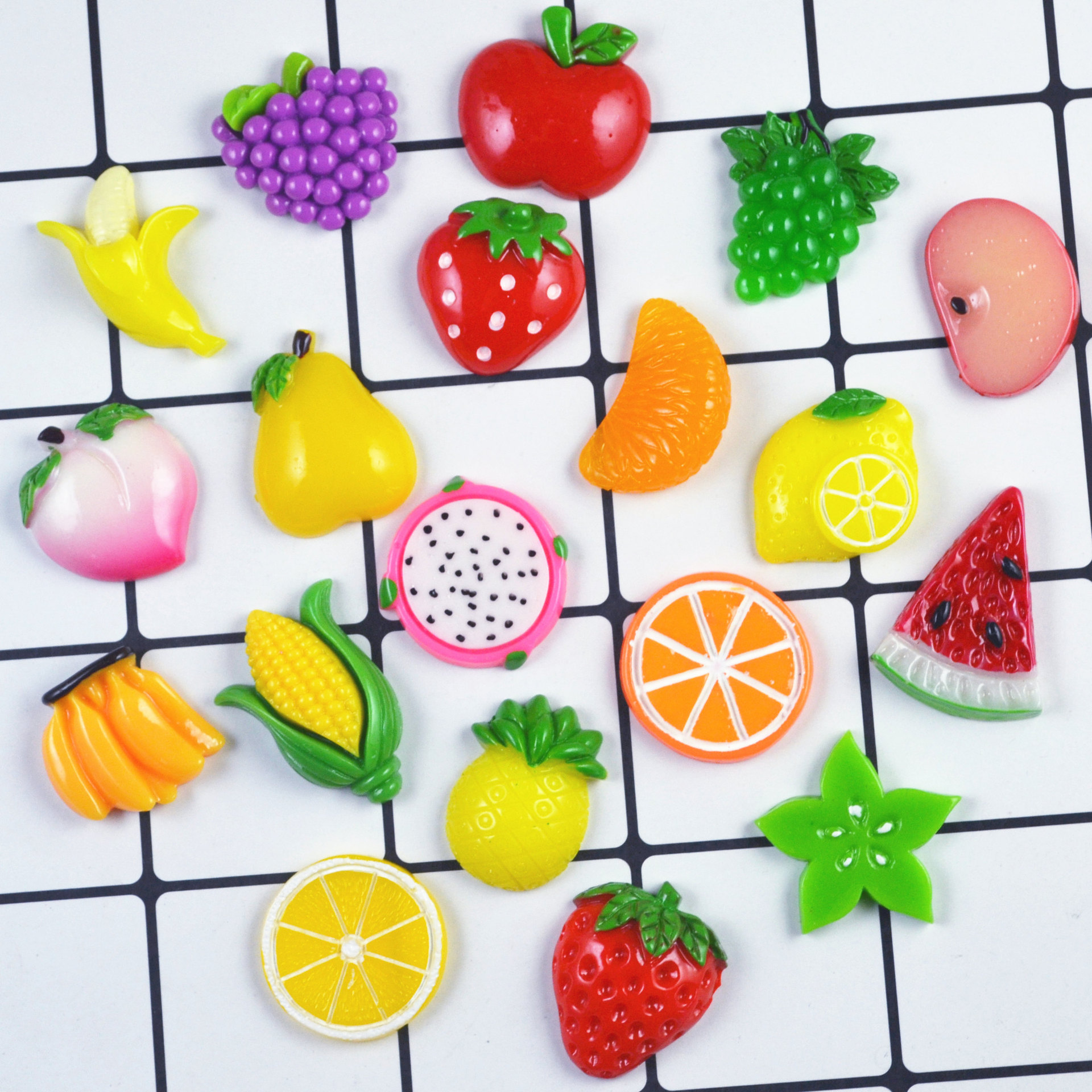 8pcs Miniature Mini Food Fruits And Vegetables Kitchen Toys Ice Cream Food Resin Toy For Doll Children Kids Kitchen Girls Toys E