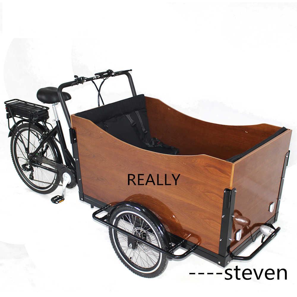 送料無料 RL-T05B2 子供自転車 3 輪電動貨物自転車ペダルトライク三輪車食品配信リチウムバッテリー電源