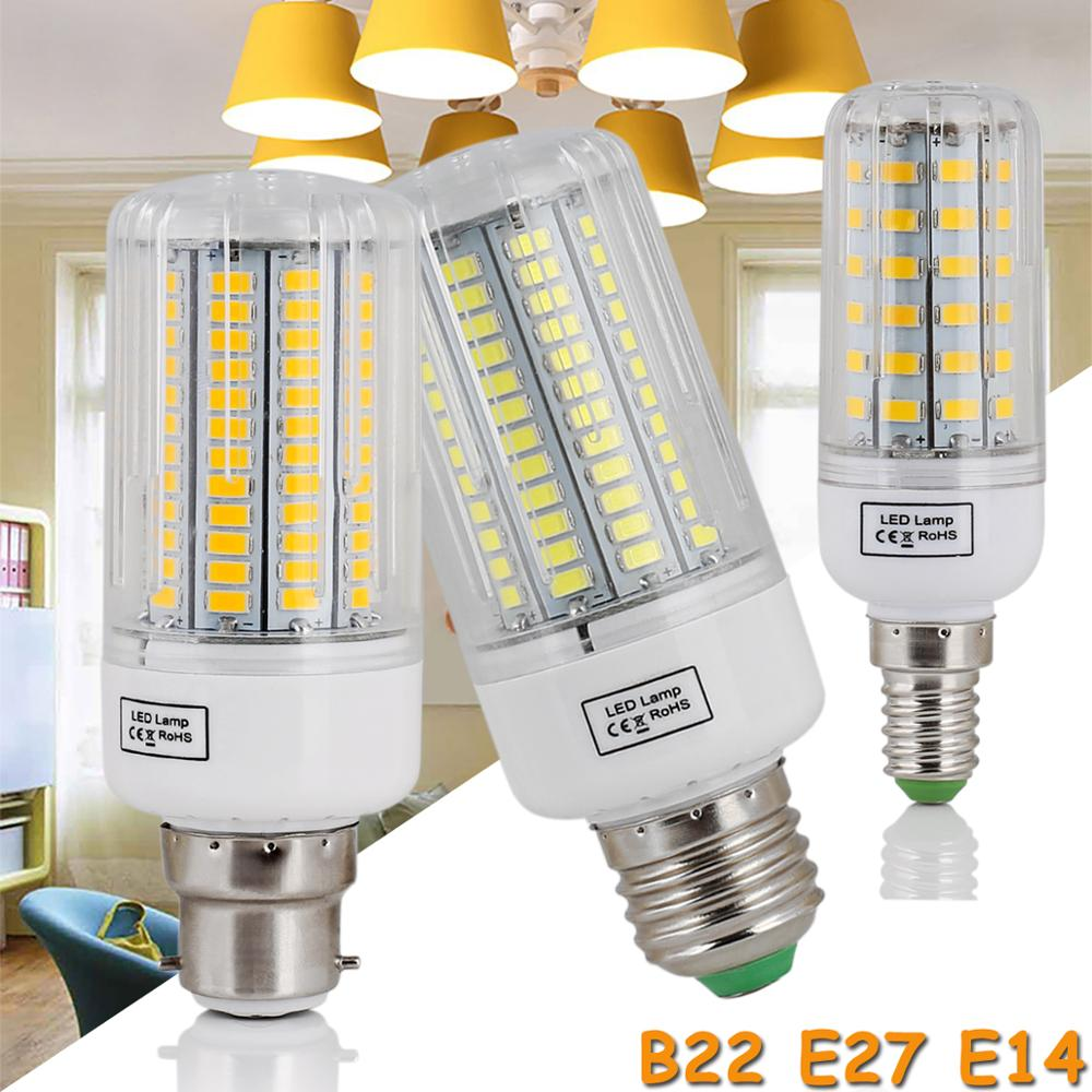 High Power 220V LED Bulb Corn Bulb Light Bulbs E27 E14 B22 E12 Screw Base 110V Room White Lamp Replace 150W Incandescent Lampada