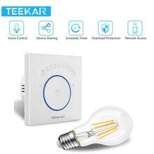 TEEKAR ЕС стандартный умный диммер 1 комплект работает с Amazon Alexa Google Home Функция синхронизации приложение управление светильник переключатель W/лампа