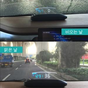 Image 5 - EANOP HUD Mirror 04 Car Head up display Windshield Speed Projector Security Alarm Water temp Overspeed RPM Voltage