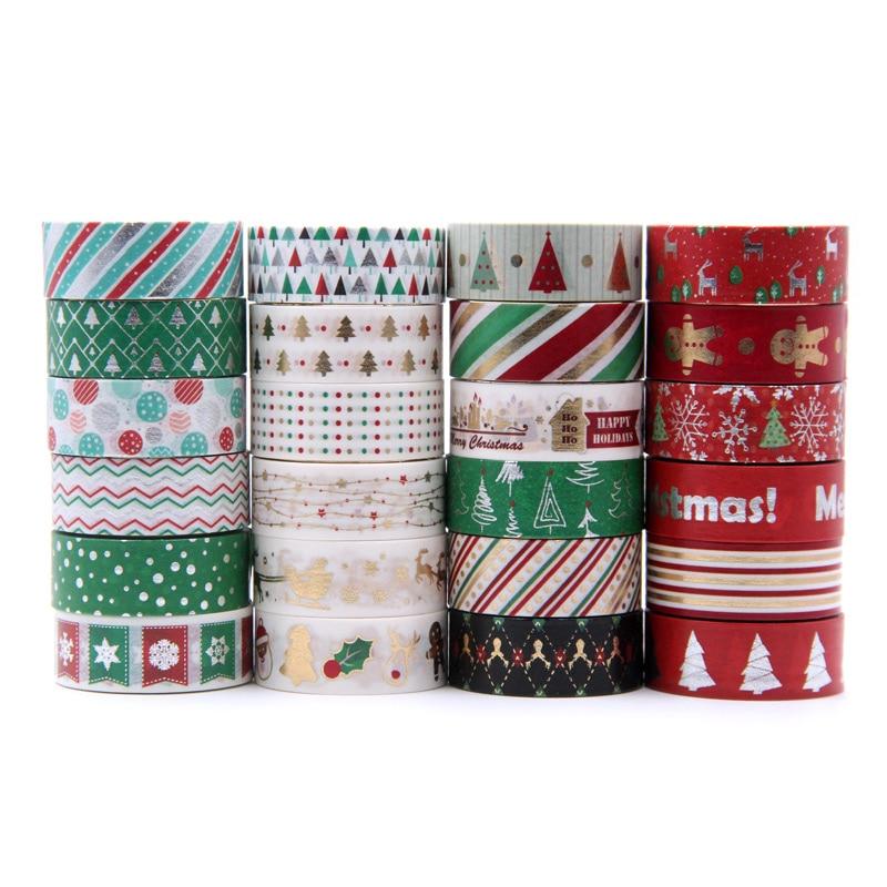 Washi fita japonesa 1.5*5 metro kawaii scrapbooking ferramentas fita de mascaramento álbum de fotos natal diy fitas decorativas