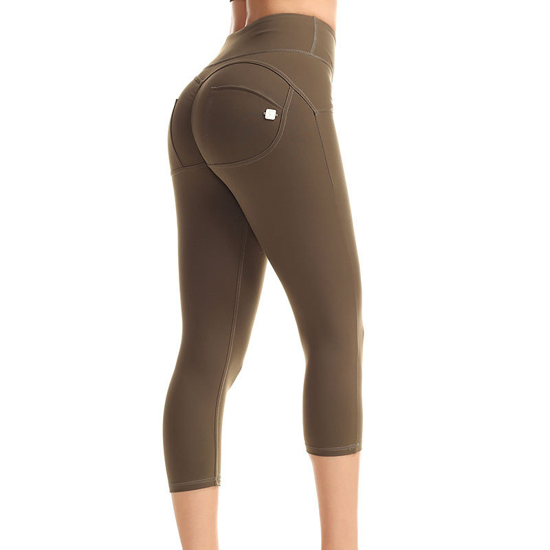 Yoga Leggings Sports Wear For Women Tummy Control High Waist Leggins Sport Tights GYM Fitness Top Seamless Capri pant Sportswear