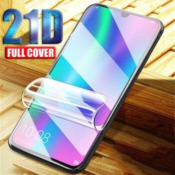 21D Screen Protector For Huawei Honor 10 9 Lite 20 Pro Hydrogel Film For Huawei Nova 3 3e 3i P Smart Z 2019 2018 Not Glass