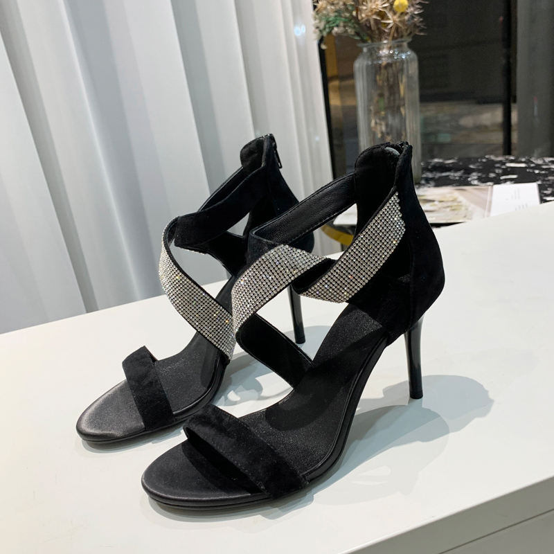 Women Pumps Ankle Strap Shoes For Sexy Peep Toe Heels Sandals Party Wedding Woman High Heels Luxury Brand Fashion Black 2020