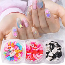 3G Solid Missing Petals Daisy Nail Slice Decorations Candy-colored Love Heart Slices Affixed To The Nails To Trim Nail Art Tools