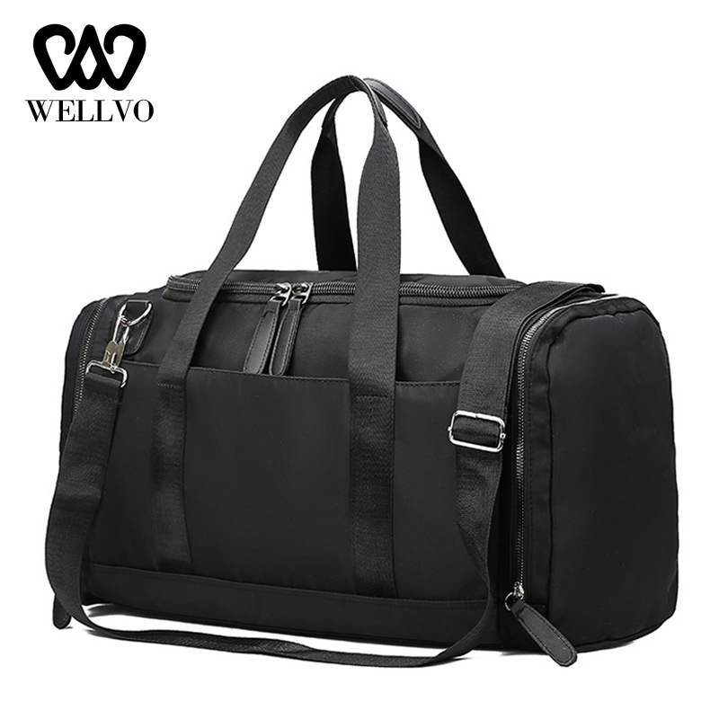 Fashion Travel Bag For Man Leisure Fitness Handbag Nylon Carry On Luggage Portable Outdoor Women Weekend Shoulder Bag XA792WB