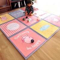 Cute Cartoon Jigsaw Large Carpet Baby Room Crawl Rugs Child Bedroom Game Area Rug Kids Play Mats Children Thicken Tatami Carpets