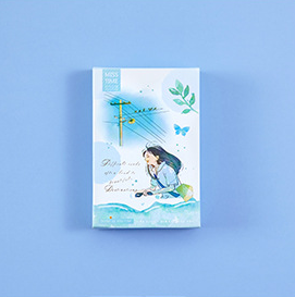 52mm*80mm Wind Rain Paper Greeting Card Lomo Card(1pack=28pieces)