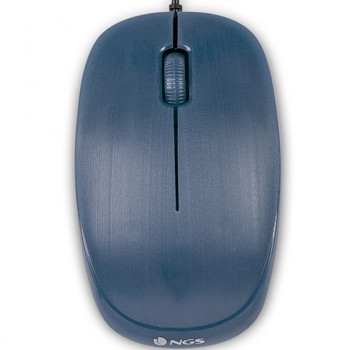 Ratón con cable ngs flameblue optico