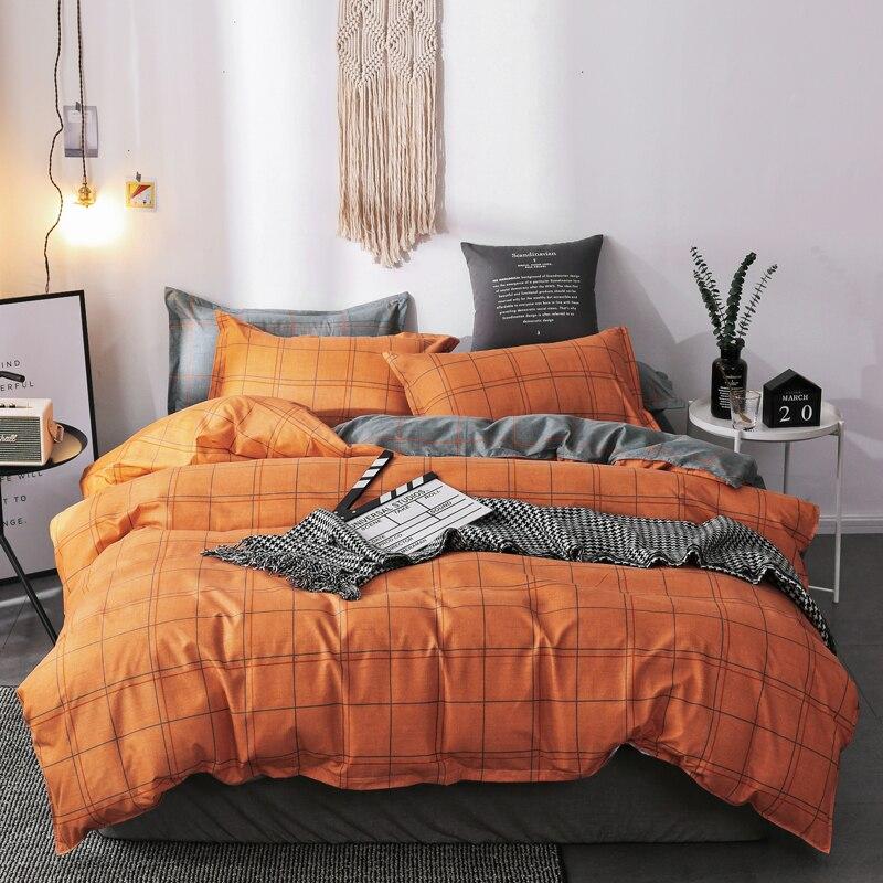 Soft comfortable bedding set bed duvet cover+ flat sheet+Pillowcase single full queen king size No quilt