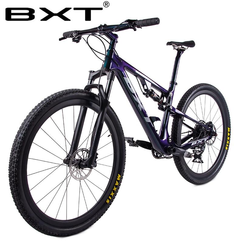 New Carbon Mountain Bike 29er Full Suspension Bike Frame MTB Downhill Bike 1*12speed Sports MTB Suspension Complete Bicycle