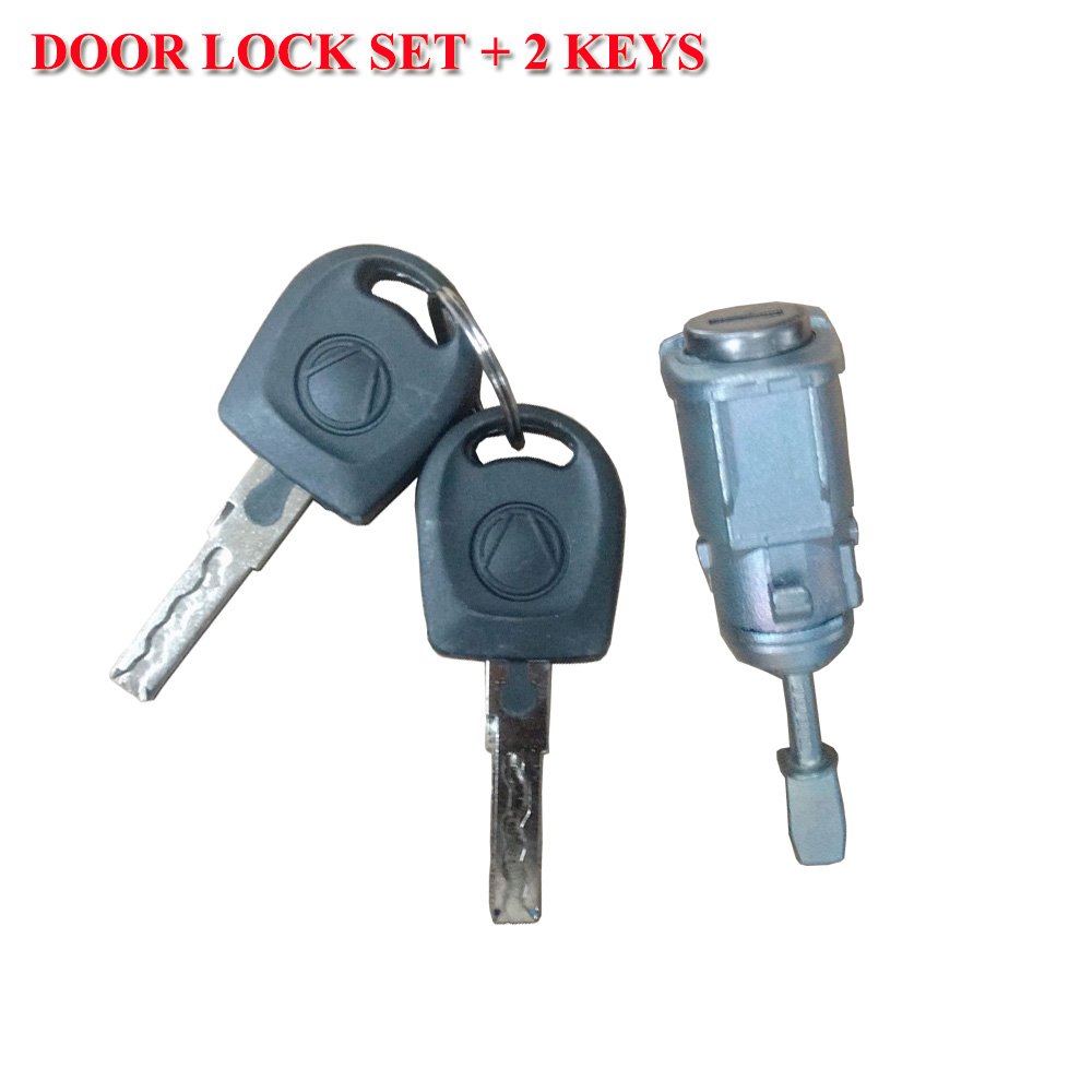 FOR VOLKSWAGEN <font><b>GOLF</b></font> IV BORA FOX POLO FRONT <font><b>DOOR</b></font> <font><b>LOCK</b></font> BARREL WITH <font><b>2</b></font> KEYS 1U0837168 1U0837167E 6Q4837167E image