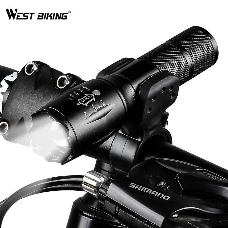 4000 Lumens T6 LED <font><b>Bike</b></font> <font><b>Light</b></font> Zoomable <font><b>Bicycle</b></font> Flashlight <font><b>Torch</b></font> Rechargeable Power Supply 18650/AAA Front <font><b>Cycling</b></font> <font><b>Headlight</b></font> <font><b>Lamp</b></font> image