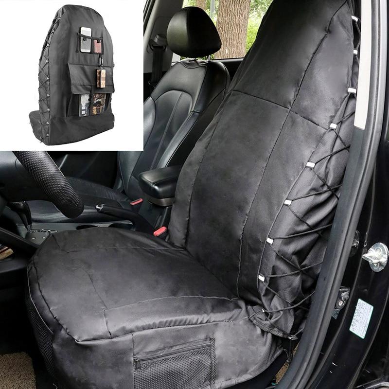TIROL T22464 Waterproof Universal Car Bucket Seat Cover Multi-Pockets Organizer