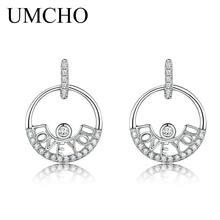 Женские серьги капельки umcho из серебра 925 пробы с надписью