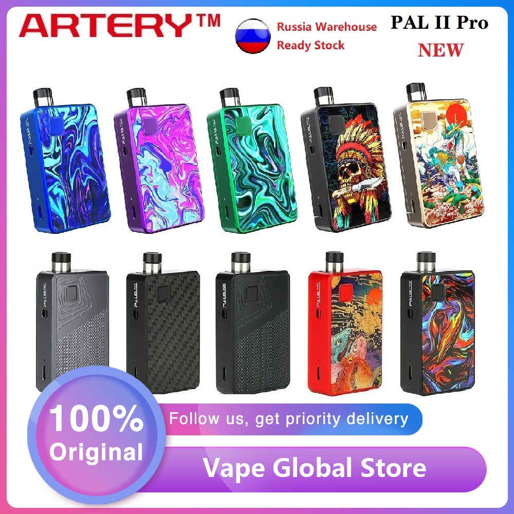 NEW Original Artery PAL 2 Pro Pod Kit MTL & DTL E-cig Vape Kit With 1000mAh Battery & 3ml Pod Pal II Vs Drag Nano / Vinci X