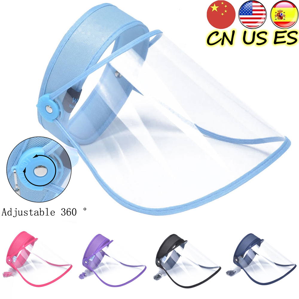 Anti Splash Transparent Full Face Shield Mask Clear face Shields Motorcycle Riding Face Mask Adult Kids  Safety Face Mouth Cover