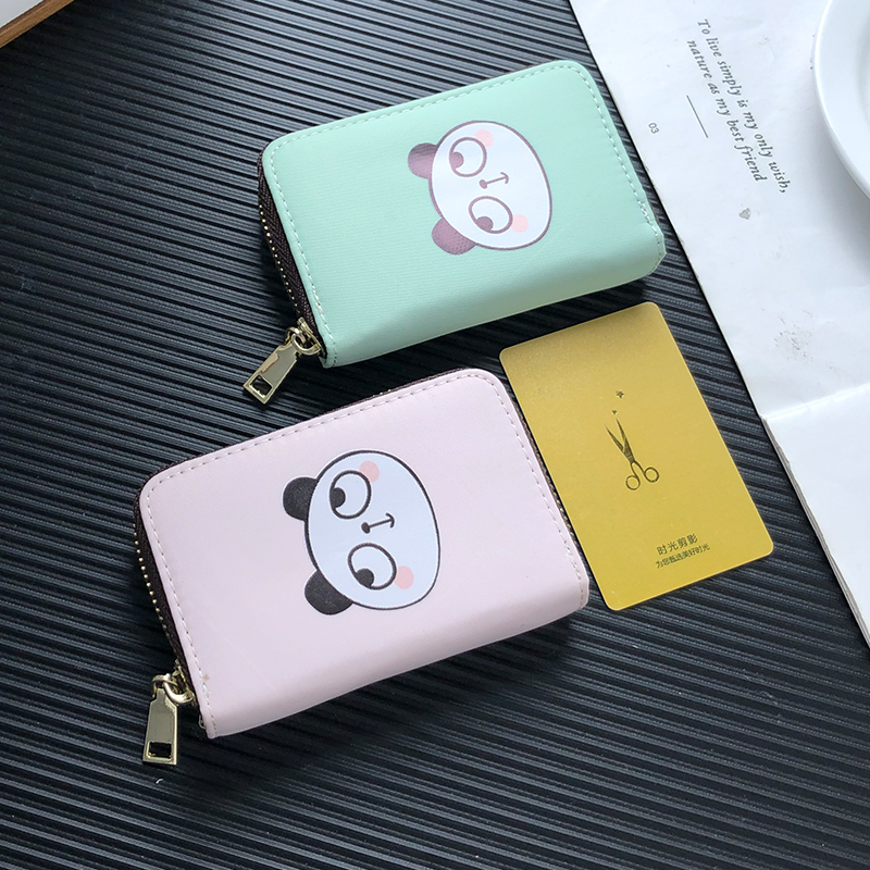APP BLOG Cute Panda Style Fashion Card Case Holder Bag Women Men Credit ID Passport Cover Cards Wallet Driver License Bags 2019 image