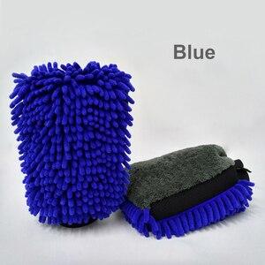 Image 5 - Gants de lavage de voiture en microfibre Ultra luxueux, 2 pièces, outil de nettoyage de voiture, brosse de nettoyage multifonction, détails