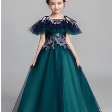 Pageant-Dresses Long-Gown Girls Short-Sleeve Shoulderless Wedding Formal Princess Satin
