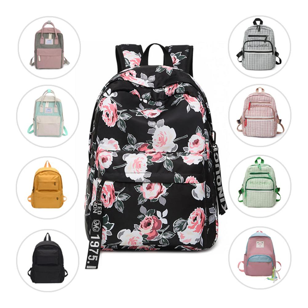 Canvas Backpack Waterproof Bags Fashion Causal Student Book Backpacks For School Teen Teenagers Girls Schoolbag Women Travel Bag