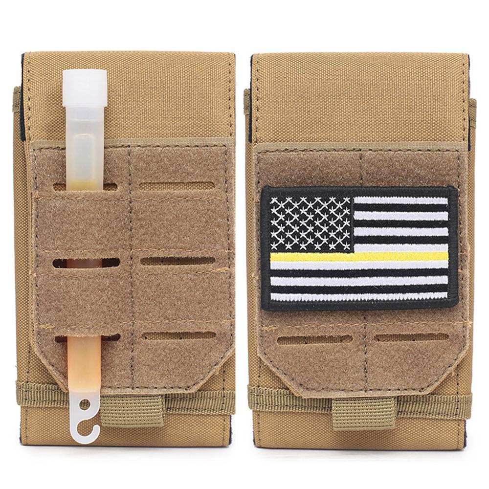 Taktik Molle kılıfı bel kemeri çantası EDC askeri Fanny paketi küçük çanta cüzdan cep telefon kılıfı Airsoft avcılık evrensel çanta