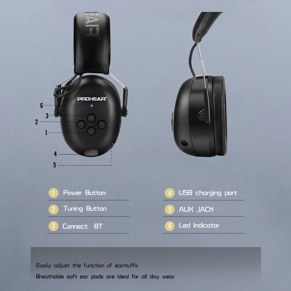 Электронная гарнитура 5,0 Bluetooth наушники объемного защита ушей Беспроводной наушники Шум шумоподавления зарядный для музыки съемки-2