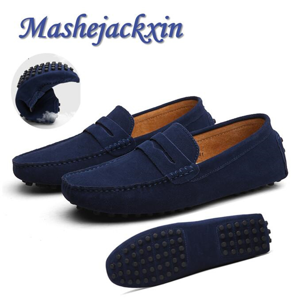 Men Loafers Moccasins Driving-Shoes Casual-Shoes Genuine-Leather Anti-Slip Comfortable title=