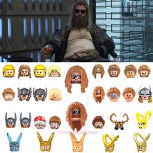 Avengers Marvel Hero Thor Rocky Iron Man kapitan ameryka figurka klocki głowy dzieci zabawki dla dzieci cegły prezent tanie tanio Unisex 6 lat Mały budynek blok (kompatybilne z Lego) Certyfikat Can not eat Z tworzywa sztucznego Samozamykajcy cegły