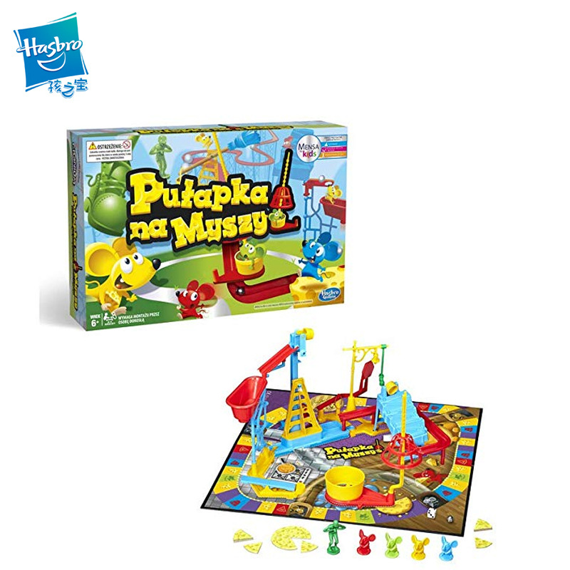 Hasbro Gaming Mouse Trap Party Game Muizenval Classic Intelligence Catching Mouse Games Children's Puzzle Board Game Toys