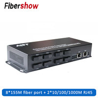 Fiber Optical switch Industrial Grade Gigabit Ethernet Switch 8 155M Fiber Port 2 1000M RJ45 Single Mode SC Converter