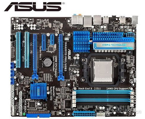 ASUS M4A89TD PRO/<font><b>USB3</b></font> Original motherboard DDR3 Socket AM3 <font><b>USB3</b></font>.0 32GB 16GB 890FX Desktop motherborad USED image