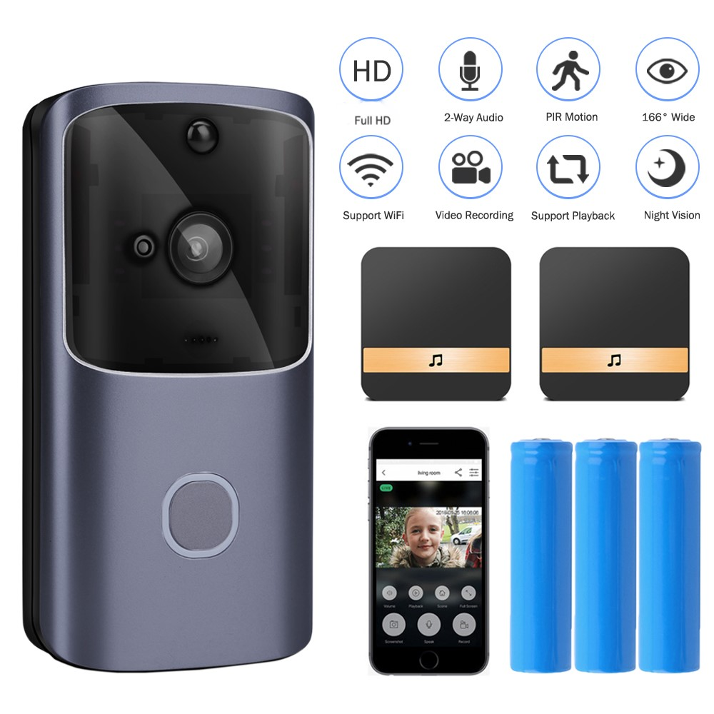 Onvian WIFI Doorbell Camera Smart Video Intercom Door Bell Waterproof Wireless Home Camera Security Alarm PIR Night Vision