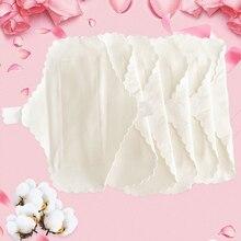 3 Pcs Thin Reusable Cotton Pads Menstrual Cloth Sanitary Soft Pads Napkin Washable Waterproof Panty Liners Feminine Hygiene Pads