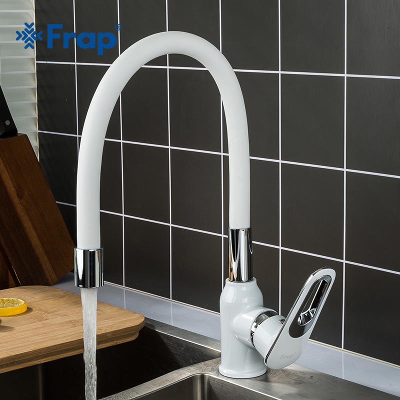 Frap Kitchen Sink Faucet Silica Gel Nose Pull Down Kitchen Faucet Cold And Hot Water Mixer Deck Mounted Tap F4049