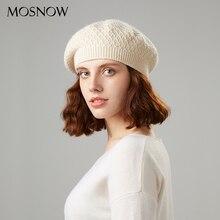 Вязаный берет, зимняя женская шапка, берет, хлопок, высокое качество, шерсть, брендовая Новая модная Осенняя шапочка, зимние шапки для женщин, шапки