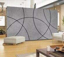 papel de parede Custom wallpaper 3d mural modern minimalist geometric arc background wall home decoration murals