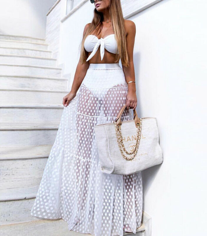 Beach Pareos Woman Bikini Cover Up Skirt Dress Chiffon Sarong 2019 New Swimwear Beach Wrap Skirt Sexy