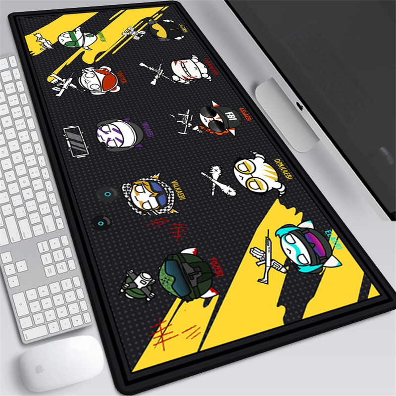 <font><b>Large</b></font> 90x40cm Rainbow Six Siege Gaming Mousepad <font><b>XXL</b></font> Anime Computer <font><b>Mouse</b></font> <font><b>pad</b></font> Gamer Locking Edge Laptop Notebook Desk Mat image