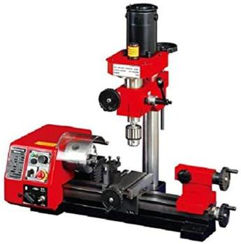 M1 250mm Micro Multi-function Machine Drilling and Milling Lathe machine sino multi function milling machine lathe linear cutting linear scale grating ruler digital display dro