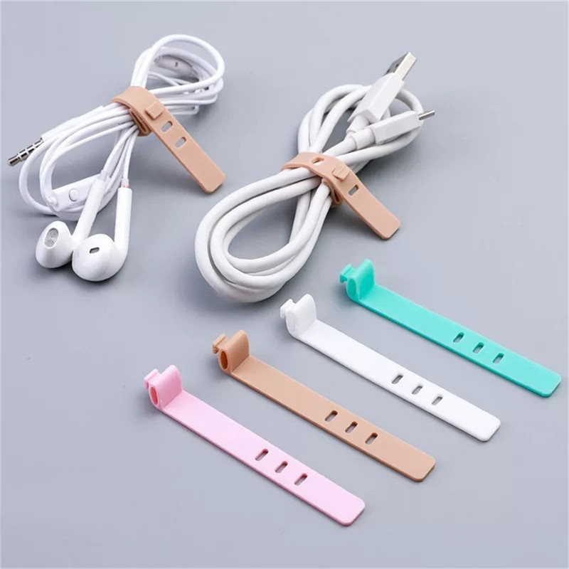 4pcs Multifunction Cable Winder For iPhone Samsung <font><b>Earphone</b></font> MP4 <font><b>Silicone</b></font> Cable Organizer Wire Wrapped Cord Line Storage <font><b>Holder</b></font> image