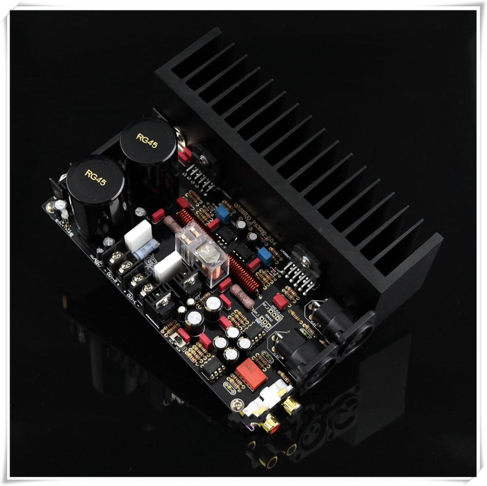 Assembly LM3886 Dual Channel Power Amplifier Board Single-ended Balanced XLR Input Amplifier Audio Borad New