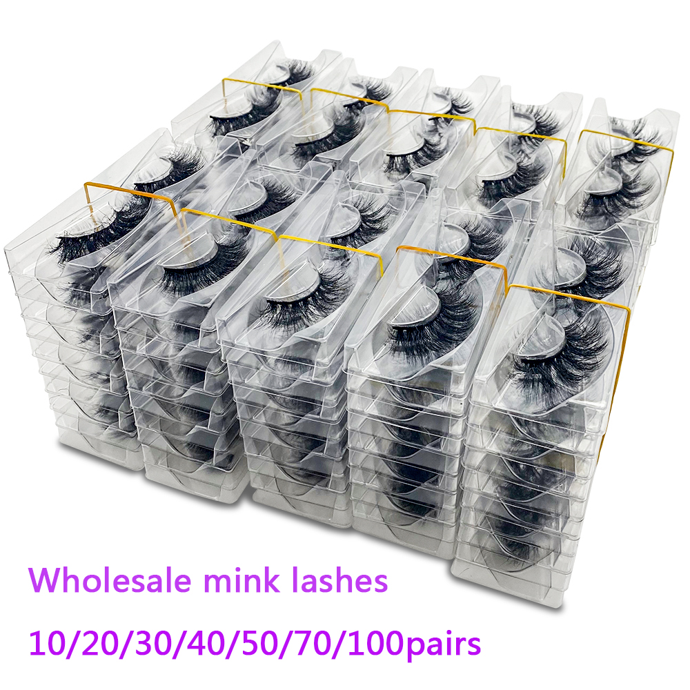 Bulk Items Wholesale Lots Cruelty Free Makeup 5D Wispy Fluffy 3D Mink Hair Natural Strip Lashes Fake False Eyelashes Vendors