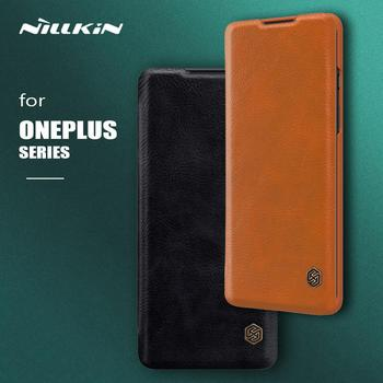Nillkin for Oneplus 8 7T 7 Pro Case Qin Flip Leather Case Wallet Card Slot Protective Phone Case for Oneplus 8 7T 7 Pro 6 3 Case