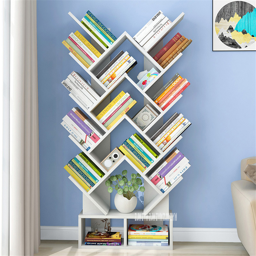 L163 Density Board Bookshelf Modern Simple Living Room Saving Space Creative Heart- Shaped Large Capacity Floor Type Bookcase