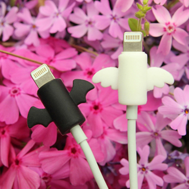 2PCS Prevent damage to the cable protector Apple iPhone data cable protector silicone USB charger wire cover