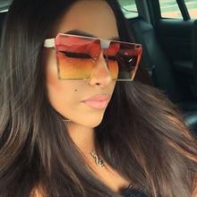 2019 Luxury Square Sunglasses Women Brand Design Gold Metal Female Glasses Color